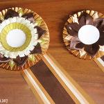 шоколадные розетки из атласной ленты