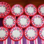 Комплект розеток Вирджиния красно-фиолетовый