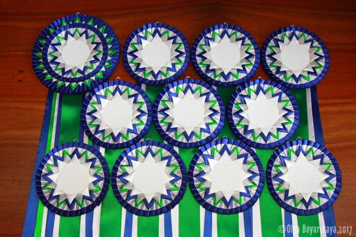 комплект розеток Вирджиния сине-зеленый