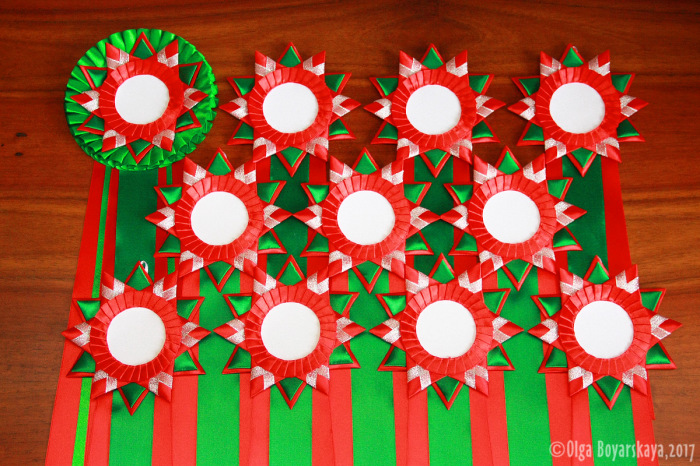 рождественская серия наградных розеток