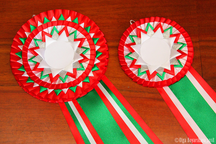 наградные розетки красно-зеленые вирджиния