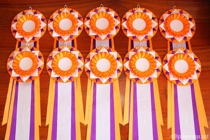 оранжевые наградные розетки
