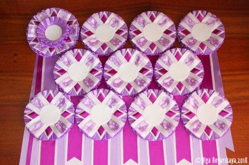 фиолетовые розетки для выставки